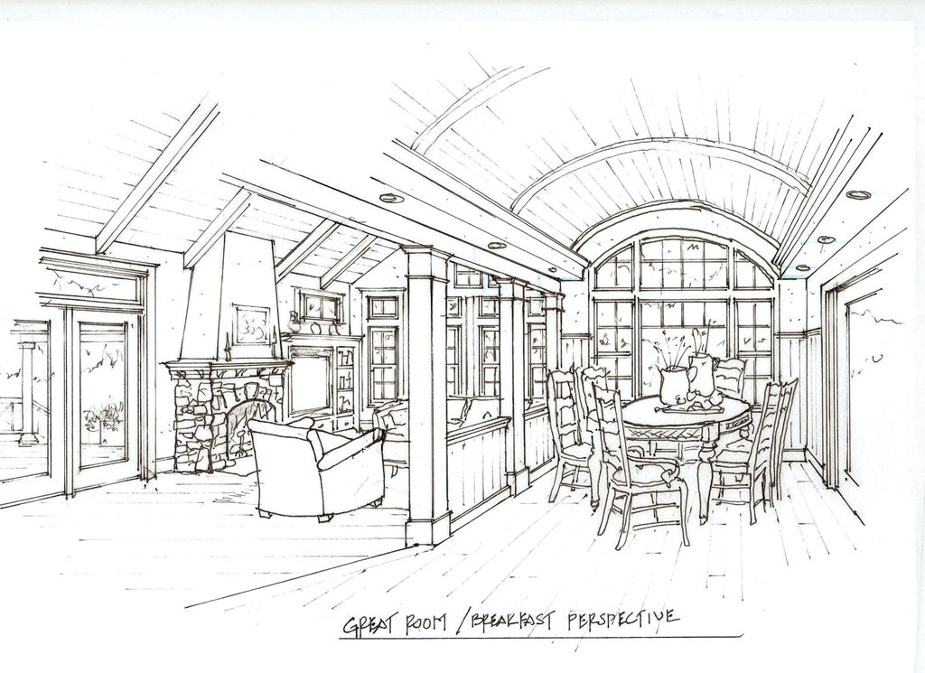 Interior Home Design Concept Drawing — Laine M. Jones Design