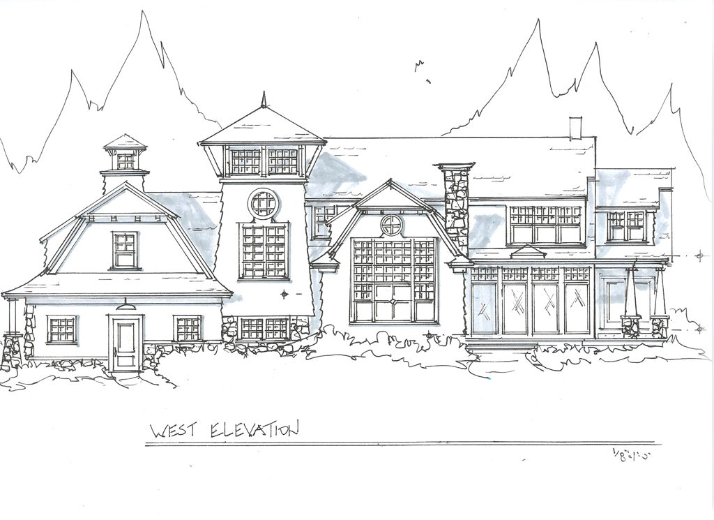 exterior home design architect drawing - Drawing For Home