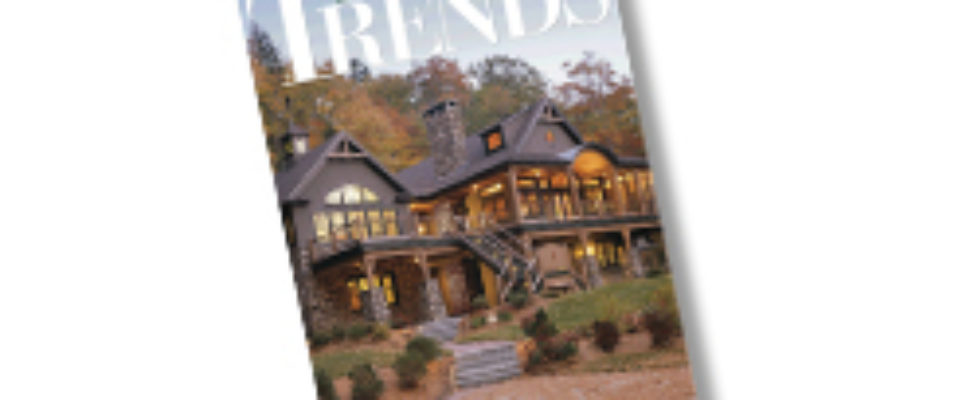 2013 Laine M. Jones Design on cover of Trends Magazine