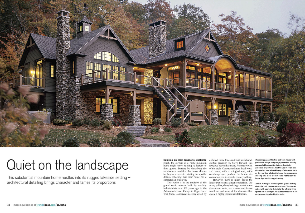 Laine m jones design cottages summer homes - Home and architectural trends magazine ...